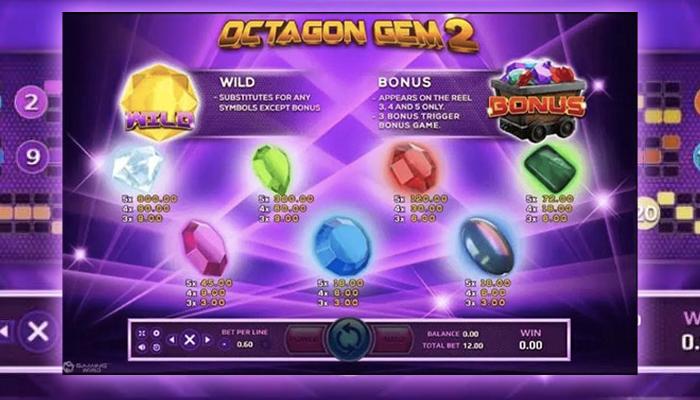 Octagon Gem เกมสล็อตอัญมณี